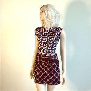 FORENZA Twill Black & White Sassy Mini Skirt 0